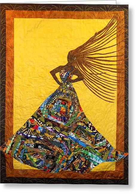 Dress Tapestries - Textiles Greeting Cards - I Am Not My Hair #3 Greeting Card by Aisha Lumumba