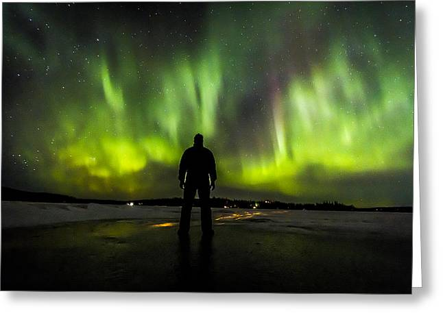 Northernlights Greeting Cards - I Am Only One Observer Too Many Encounters Greeting Card by Kyle Lavey