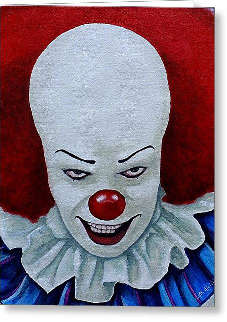 Pennywise Greeting Cards - I am Pennywise Greeting Card by Al  Molina