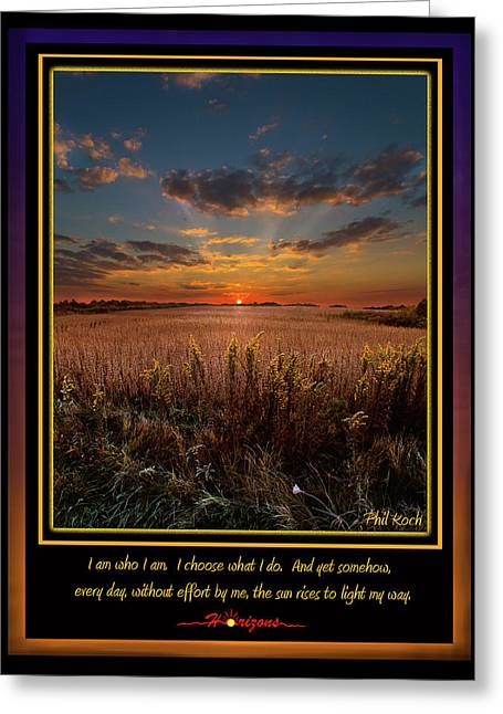 Inspirational Poster Greeting Cards - I Am Greeting Card by Phil Koch