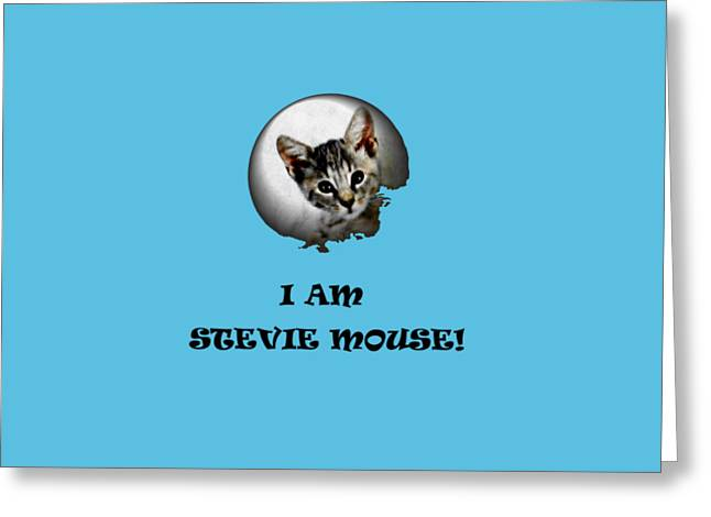 Blind Eyes Greeting Cards - I am Stevie Mouse Greeting Card by Dorothy Berry-Lound