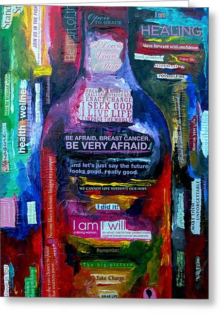 Cancer Paintings Greeting Cards - I Am Strong Greeting Card by Patti Schermerhorn