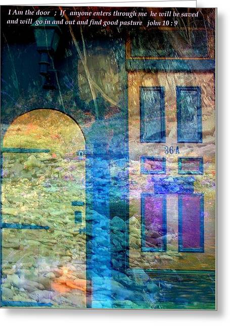 Gospel Greeting Cards - I  Am The Door Greeting Card by Rick Todaro