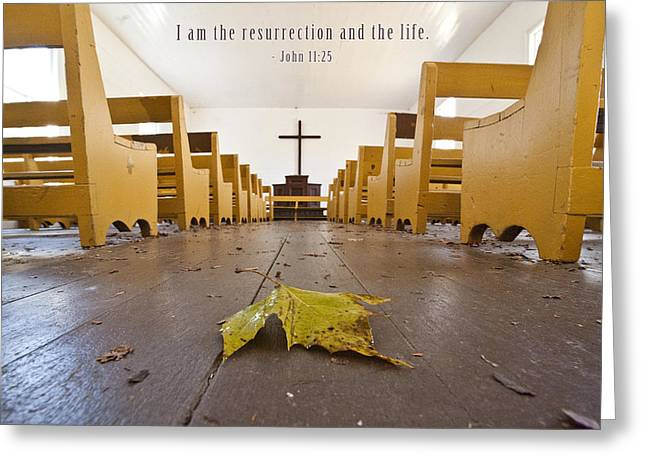 Motivational Poster Greeting Cards - I Am The Ressurection Greeting Card by David Simchock