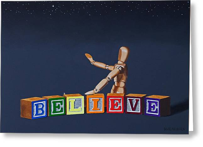 Religious Paintings Greeting Cards - I Believe Greeting Card by Tom Swearingen