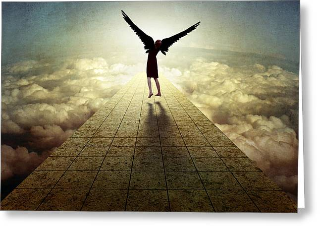 Montage Greeting Cards - I Can Fly ... Greeting Card by Ben Goossens