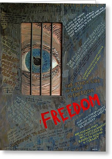 I Can See Freedom Greeting Card by Ian Duncan MacDonald