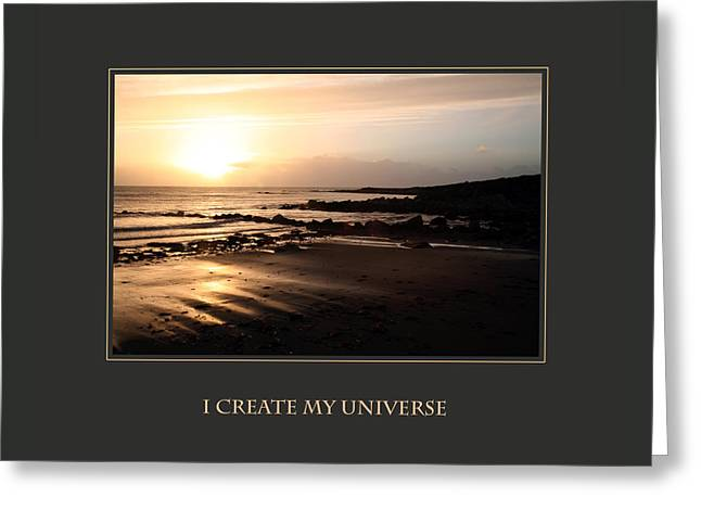 I Create My Universe Greeting Card by Donna Corless