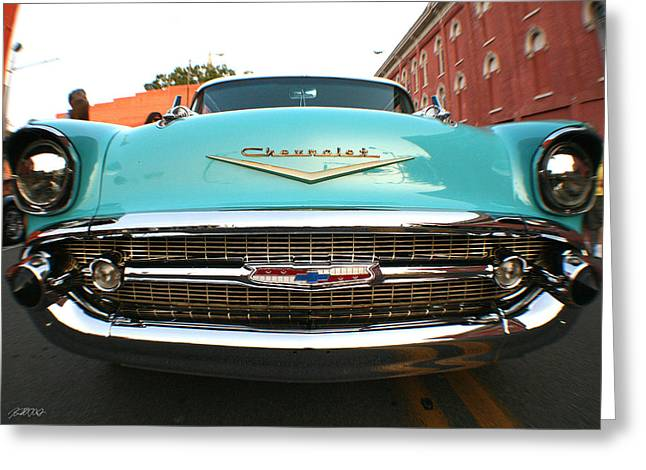 Transportation Glass Greeting Cards - I Dream In Teal Greeting Card by Jason Blalock