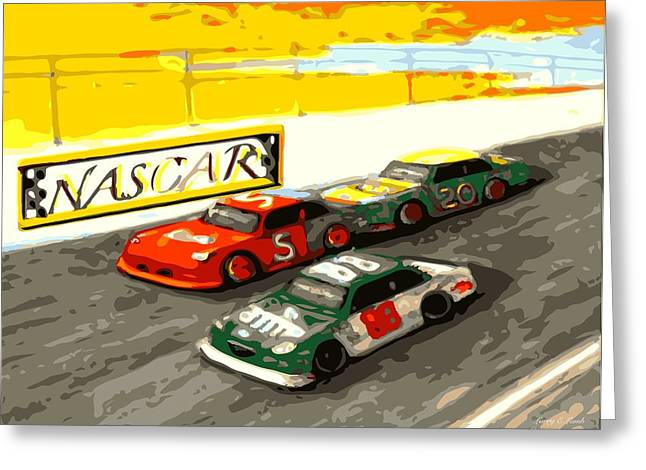 Dale Earnhardt Jr Greeting Cards - I feel a draft NASCAR  Greeting Card by Larry E Lamb