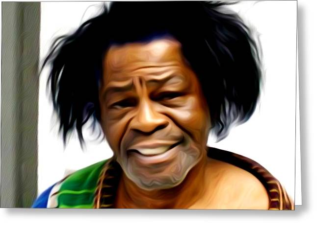 I Feel Greeting Cards - I feel Good - James Brown Greeting Card by Bill Cannon