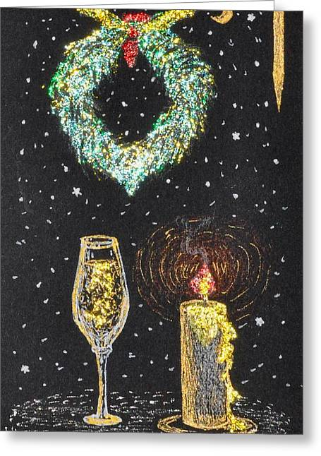I Feel The Upcoming Holidays Greeting Card by Georgeta  Blanaru