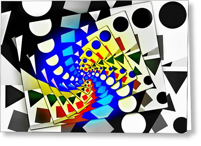 Recently Sold -  - Abstract Digital Greeting Cards - I Fell Way Too Deep Greeting Card by Aurelio Zucco