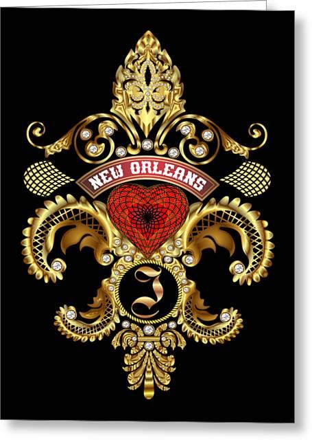 Divorce Greeting Cards - I-Fleur-de-lis New Orleans Transparent Back Pick Color Greeting Card by Bill Campitelle
