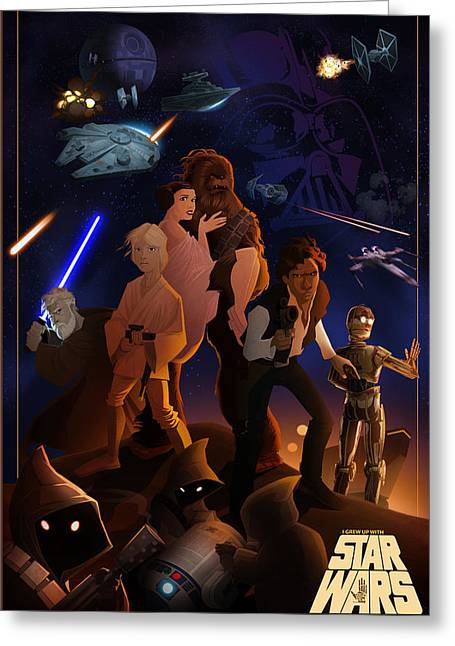 I Grew Up With Starwars Greeting Card by Nelson Dedos  Garcia