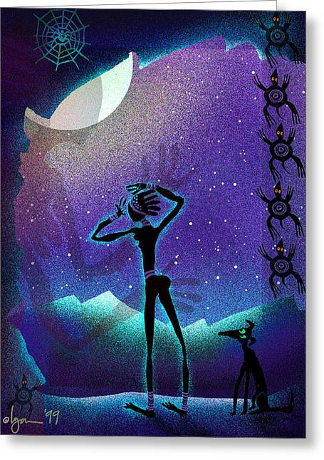 Primitive Greeting Cards - I Had A Dream About You Greeting Card by Angela Treat Lyon