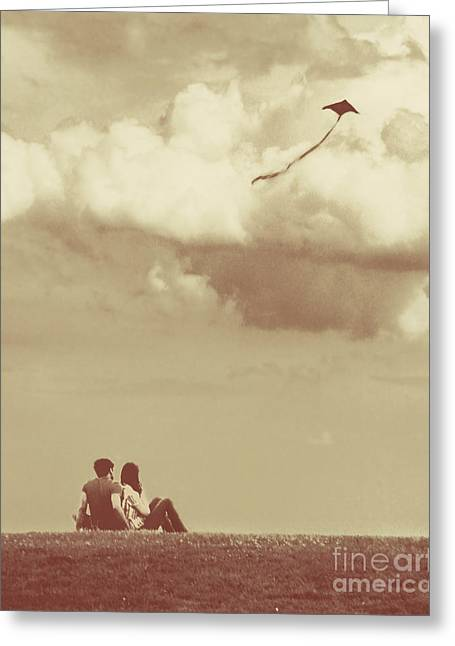 Kites Greeting Cards - I Had A Dream I Could Fly From the Highest Swing Greeting Card by Dana DiPasquale