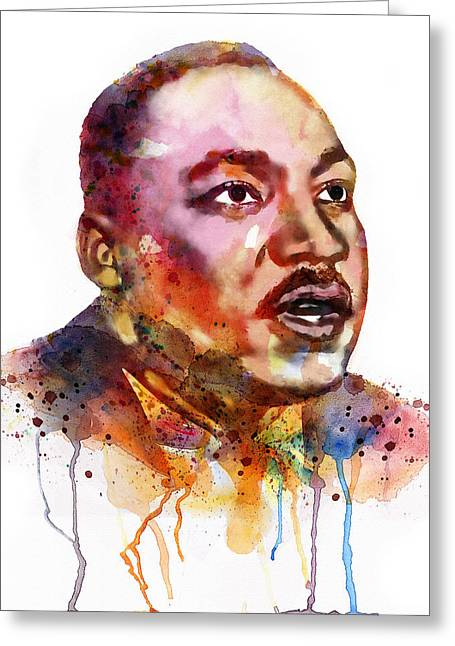 Martin Luther King Mixed Media Greeting Cards - I Have a Dream Greeting Card by Marian Voicu