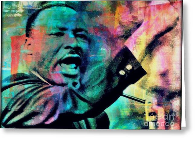 Civil Rights Greeting Cards - I Have A Dream Greeting Card by Wbk