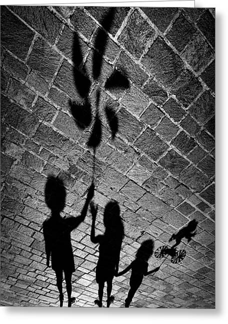 Shadows Photographs Greeting Cards - I Have A Gift Also For You. Greeting Card by Antonio Grambone