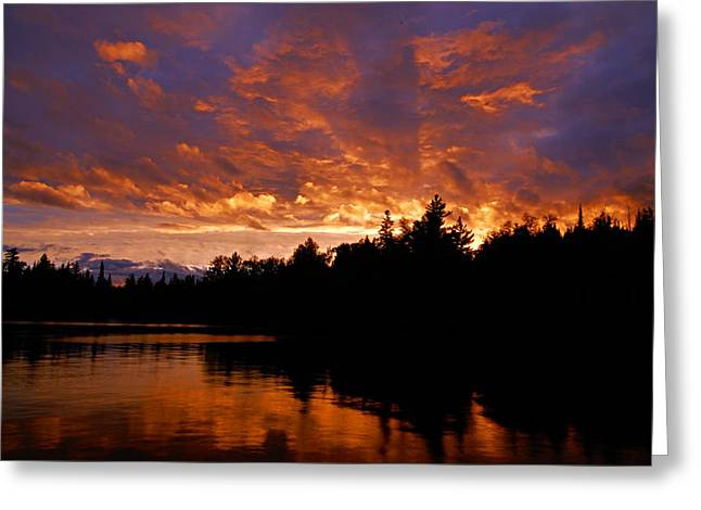 I Have Seen Rain And I Have Seen Fire Greeting Card by Larry Ricker