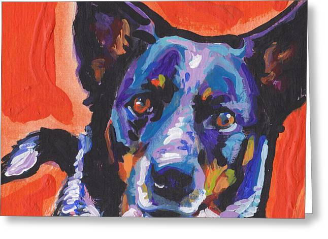 Australian Cattle Dog Greeting Cards - I Heal You Greeting Card by Lea
