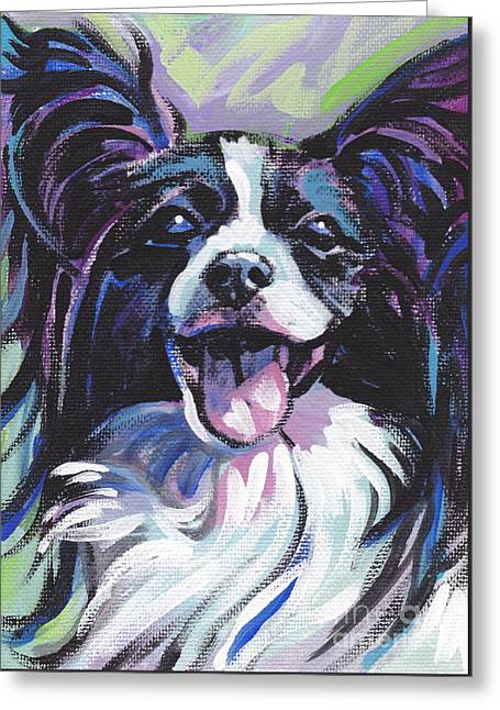 Papillon Dog Greeting Cards - I Hear Ya Greeting Card by Lea