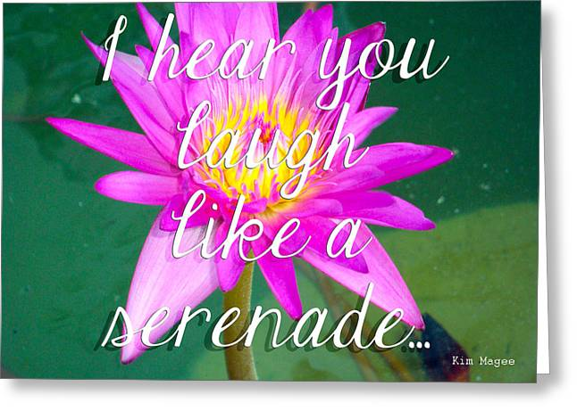 Day Lilly Greeting Cards - I Hear You Laugh Like A Serenade  Greeting Card by Kim Magee  Photography