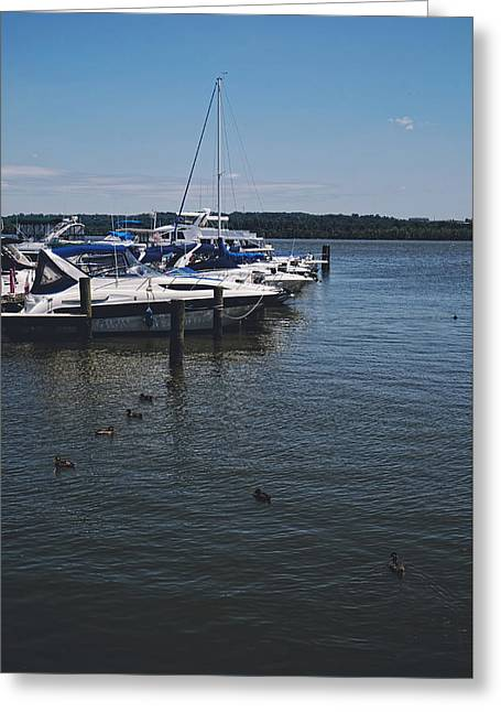 Docked Boat Greeting Cards - I Hear Your Call... Greeting Card by Lucinda Walter