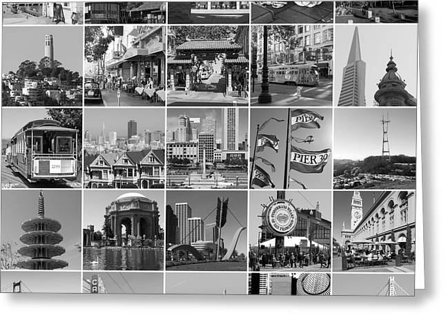 Home Decor Greeting Cards - I Left My Heart In San Francisco 20150103bw Greeting Card by Home Decor