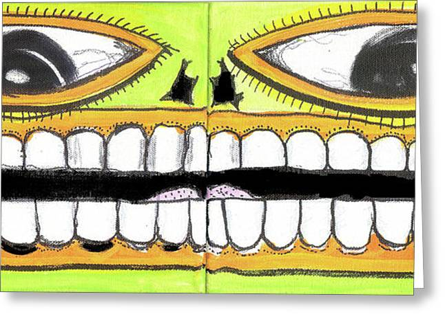 Raw Contemporary Graffiti Greeting Cards - I Like 2 Smile Greeting Card by Robert Wolverton Jr