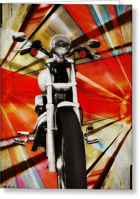 I Like Greeting Cards - I Like Bikes Greeting Card by Bill Cannon