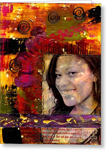 I Like Colors   What About You Greeting Card by Angela L Walker