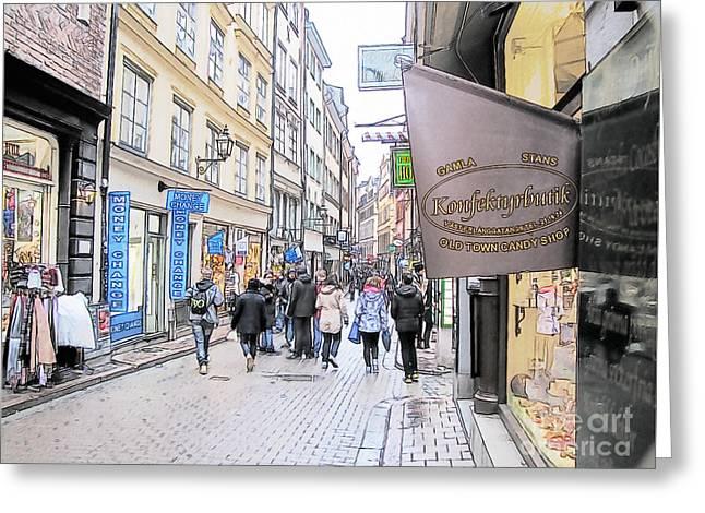 People Pyrography Greeting Cards - I like Stokholm Greeting Card by Yury Bashkin