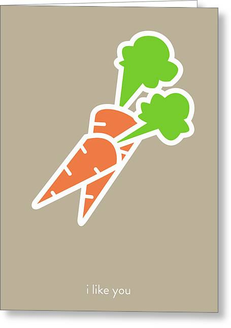Hallmark Digital Art Greeting Cards - I like you my carrot. Greeting Card by Lina Tumarkina
