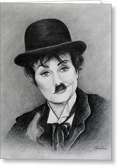 Mimes Greeting Cards - I love Charlie Greeting Card by Lena Day