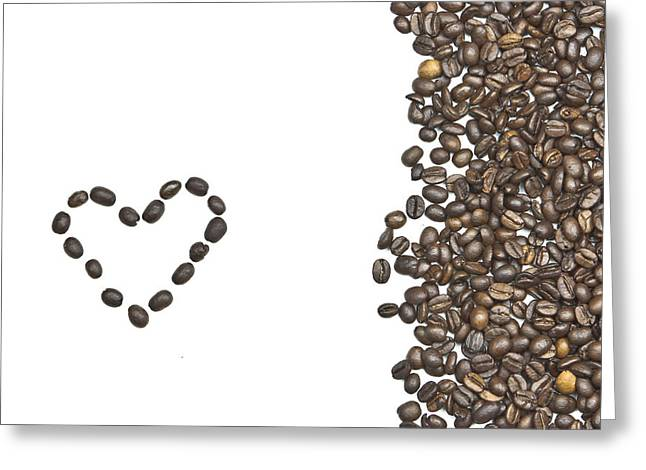 I Love Coffee Greeting Card by Joana Kruse