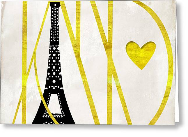I Love Paris Greeting Card by Mindy Sommers