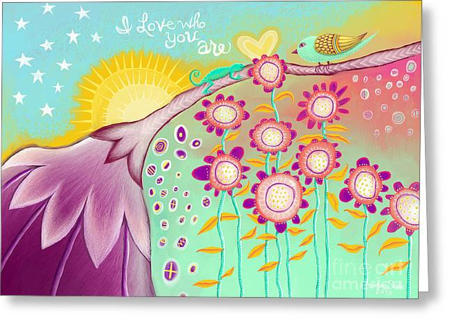 Parable Greeting Cards - I Love Who You Are Greeting Card by Darlene Seale