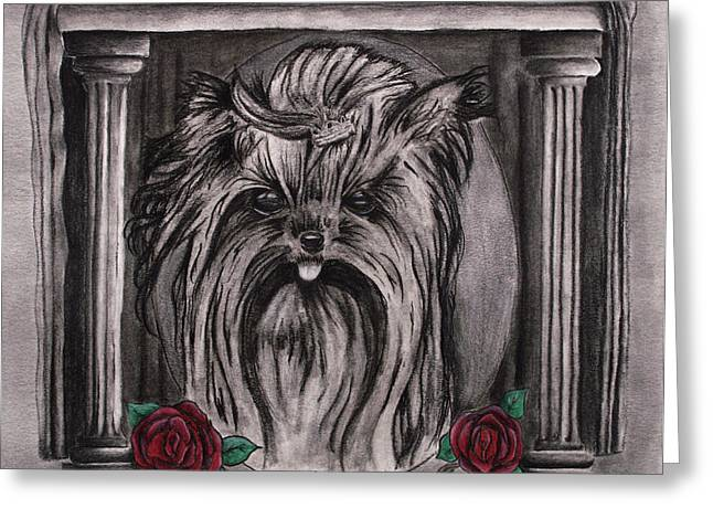 Hypoallergenic Greeting Cards - I Love Yorkies Greeting Card by Lonnie Niver