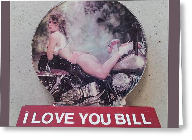 Concern Sculptures Greeting Cards - I love you Bill 7 Greeting Card by William Douglas
