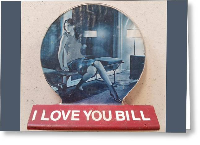 Concern Sculptures Greeting Cards - I love you Bill 8 Greeting Card by William Douglas