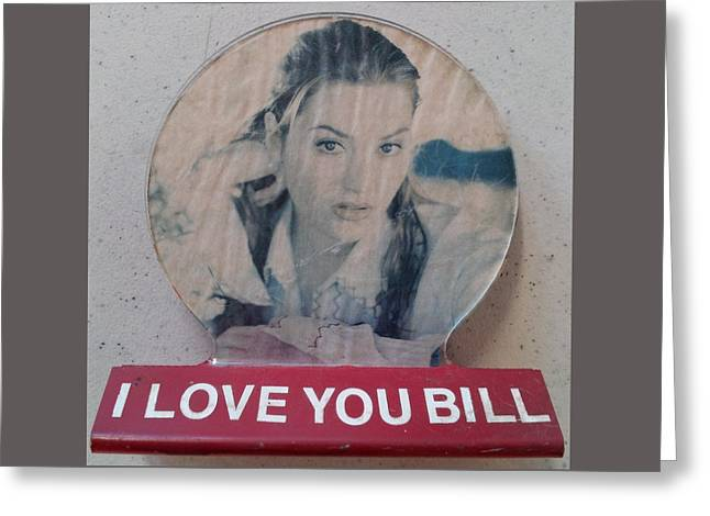 Concern Sculptures Greeting Cards - I love you Bill 9 Greeting Card by William Douglas