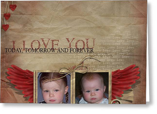 Joanne Kocwin Photographs Greeting Cards - I Love You Greeting Card by Joanne Kocwin
