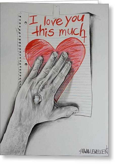 Valentines Day Pastels Greeting Cards - I Love You This Much Greeting Card by Shawna Lewellen