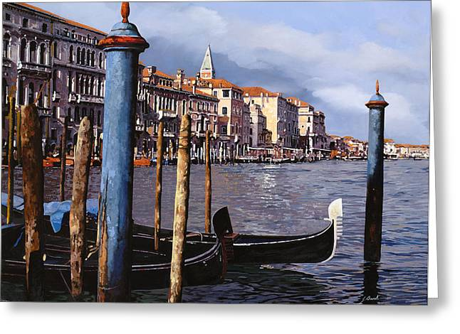 Venice Greeting Cards - I Pali Blu Greeting Card by Guido Borelli