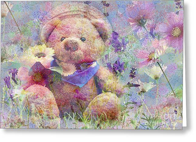 Innocence Greeting Cards - I Picked It For You 2015 Greeting Card by Kathryn Strick