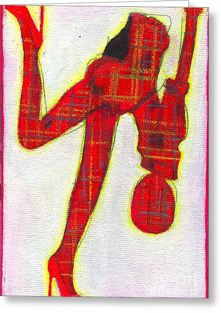 I Plaid Raja Greeting Card by Ricky Sencion