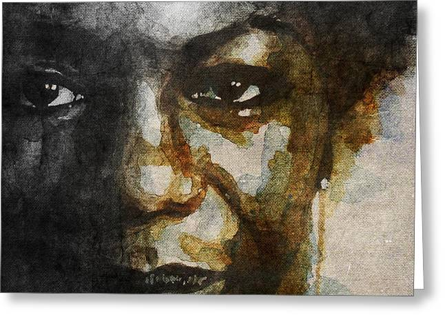 Nina Simone Greeting Cards - I Put A spell On You Cause Your Mine  Greeting Card by Paul Lovering