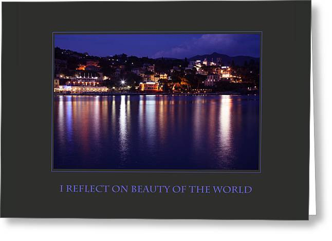 I Reflect On Beauty Of The World Greeting Card by Donna Corless